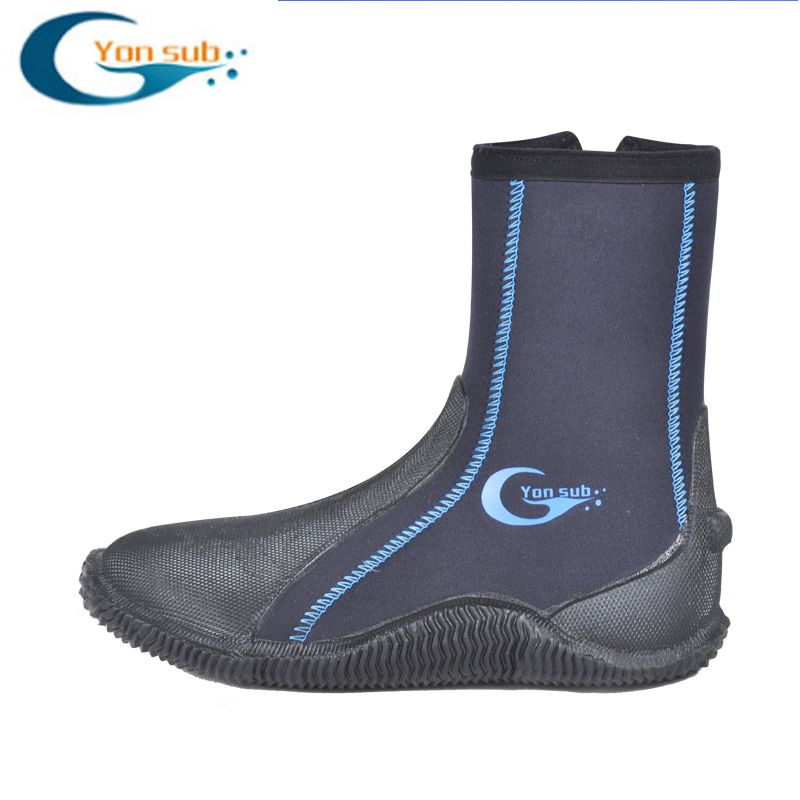 5 MM Dicke Tauchen Stiefel Waten rutschfeste Anti-dorn Männer Und Frauen Vulkanisierte Schnorcheln Strand Schuhe