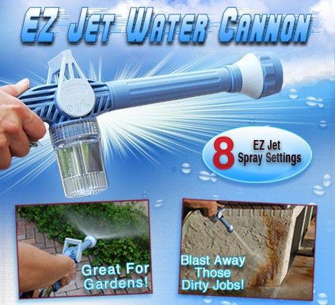 Multifunction 8 In 1 <font><b>Turbo</b></font> Spray Gun Garden Sprayer Plastic Garden Hose Pipe Conector Function Ez Jet Water Cannon