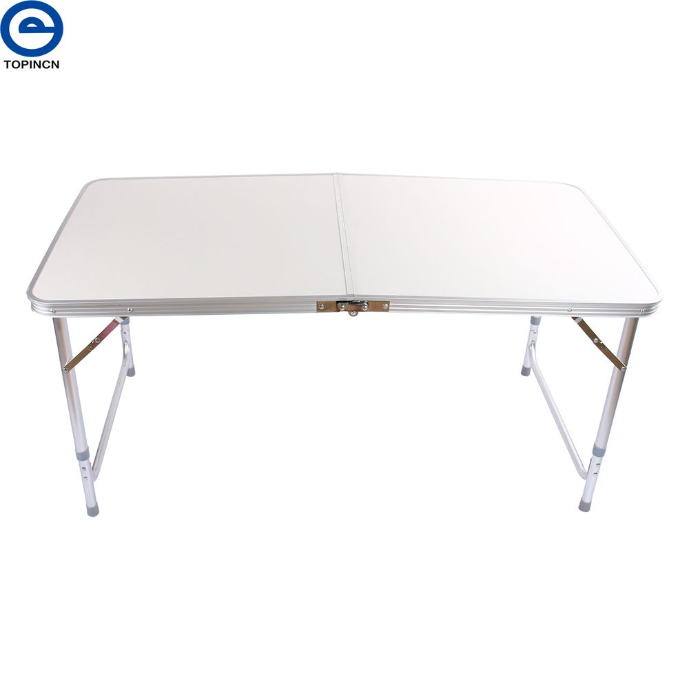 Portable Aluminum Folding Outdoor Camping Table Ultralight Height-Adjustable Dining Picnic BBQ Party Folding Table