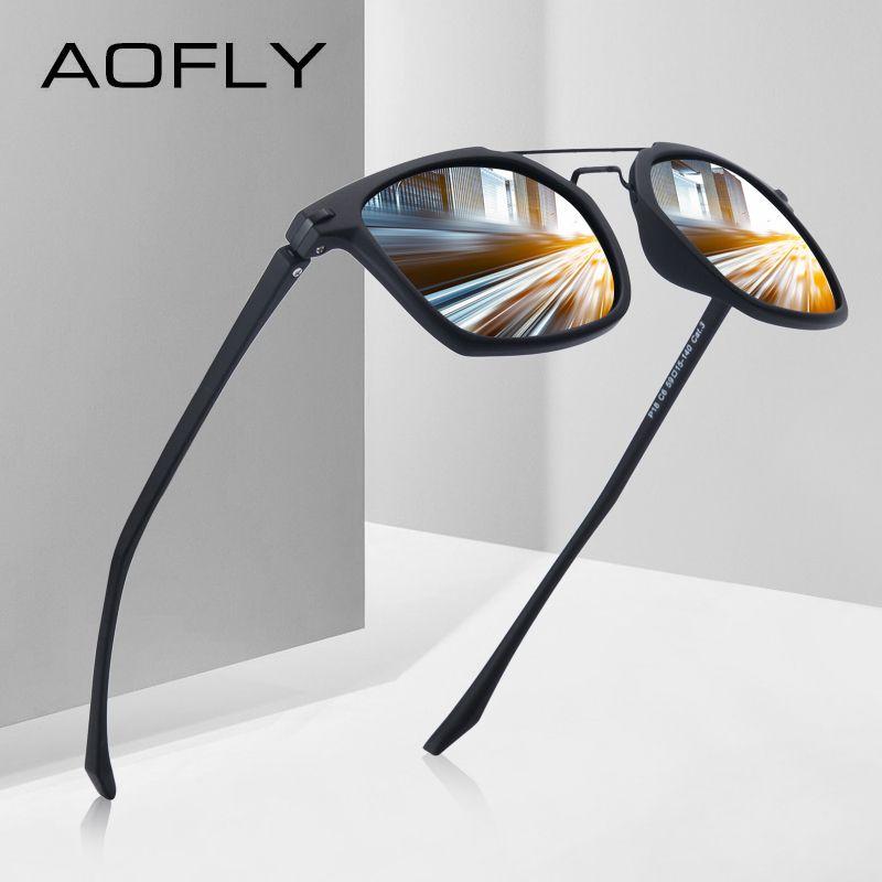 AOFLY MARKE DESIGN Klassische Polarisierte Sonnenbrille Männer Fahren TR90 Rahmen Sonnenbrille Brille UV400 Gafas Oculos De Sol AF8091