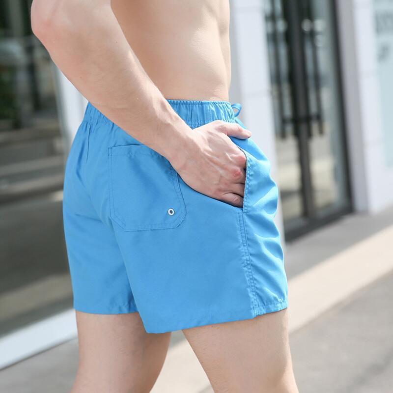 Swimming Trunks Men Beach 2019 Plus Size Swimwear Men Solid Quick Dry Shorts Gay Boxer Surf Board Beach Wear 14 colors