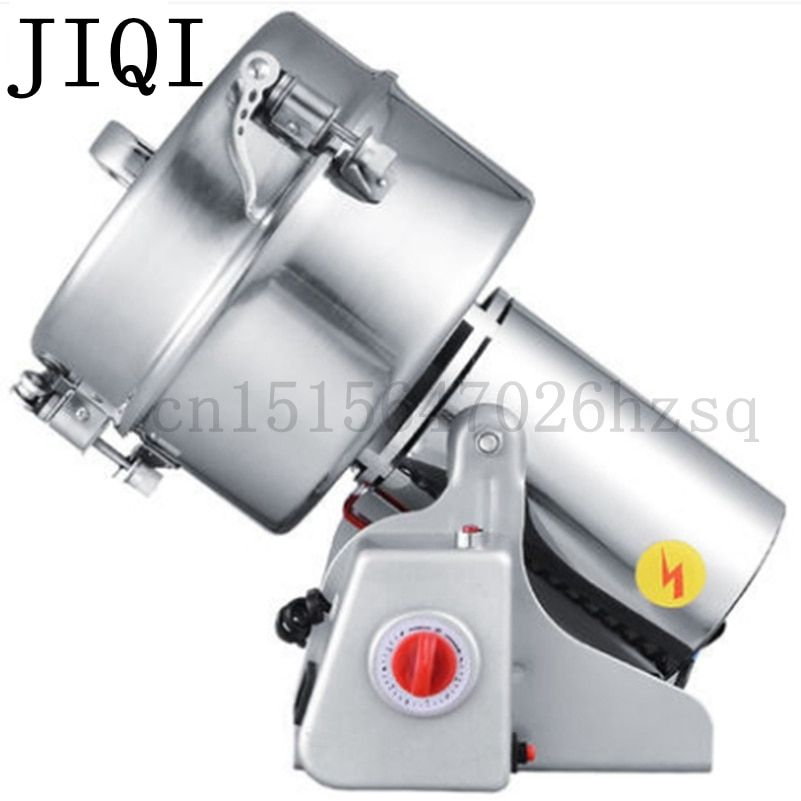 JIQI Portable medicine grinder Multifunction Swing 2000g grains mill powder grinding machine ultrafine herbs Crusher Pulverizer