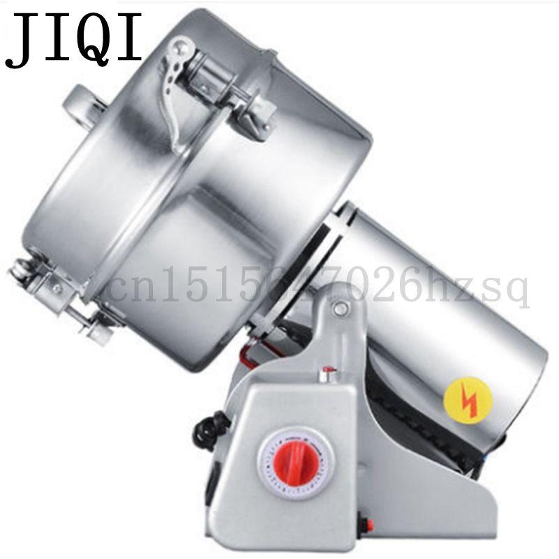 JIQI Portable medicine grinder Multifunction Swing 2000g grains mill powder grinding machine ultrafine herbs Crusher Pulverizer