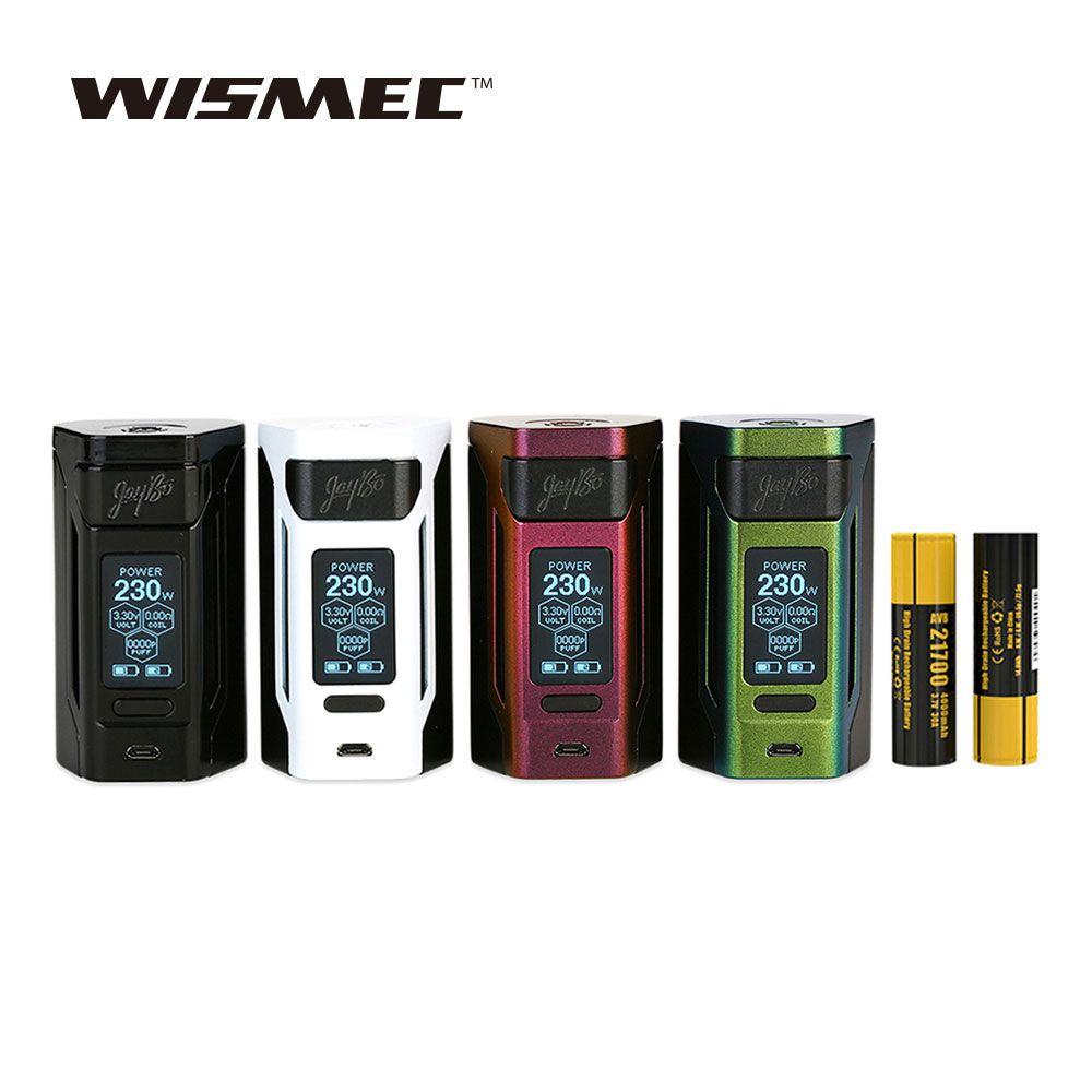Original WISMEC Reuleaux RX2 21700 230W TC Box MOD with 8000mAh Lagre Battery Huge Power Best for Gnome Tank WISMEC Vape Box Mod