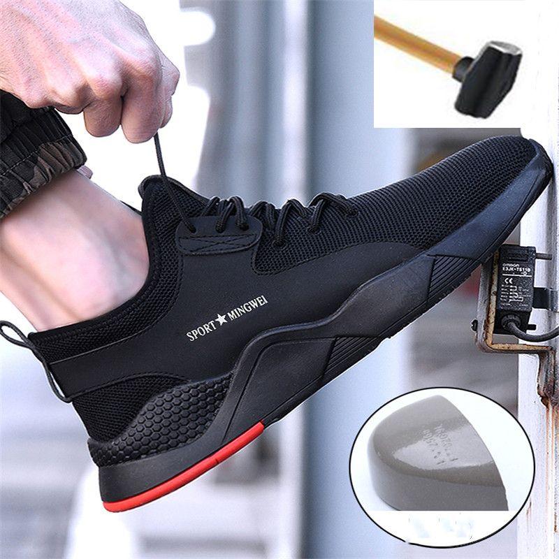 Hommes Acier Orteil Chaussures de Sécurité de Travail décontracté Respirant Baskets En Plein Air Anti-Crevaison Bottes Industriel Confortable Chaussures pour Hommes