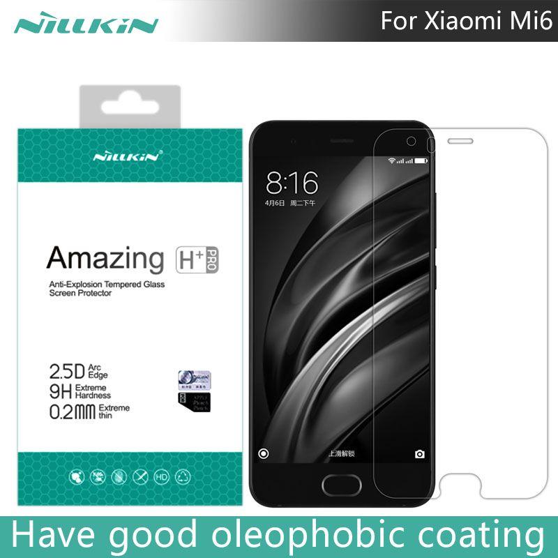 Pour Xiao mi mi 6 NILLKIN étonnant H + PRO 2.5D 0.2mm Anti-Explosion verre trempé protecteur d'écran pour Xiao mi mi 6 mi 6 M6 5.15 pouces