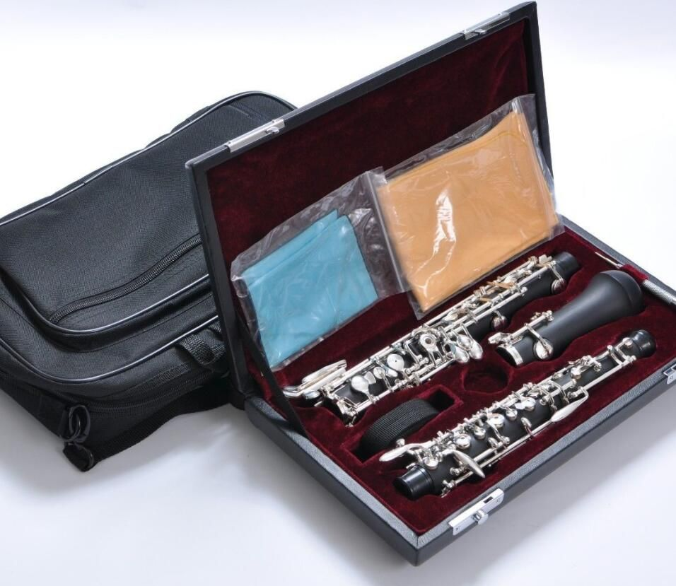 Composite wood semi automatic oboe with Open D key for professional musician Woodwind Instrument with Reed Leather Case Carrying