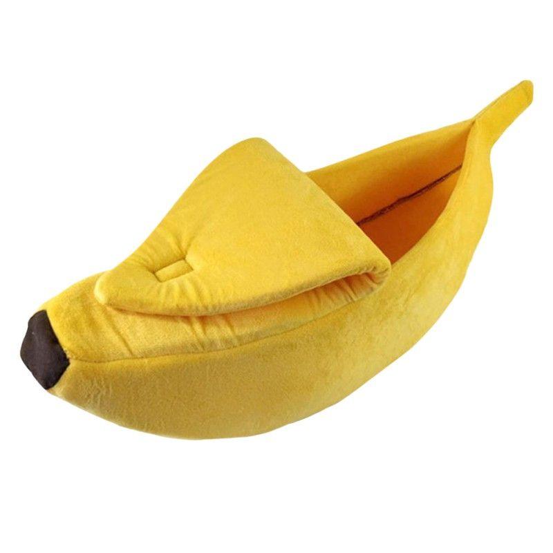 Belle Creative Banane En Forme de Chien/Chat Maison Doux Chaud Chenil de Couchage Lit Maison Tente Fournitures Pour Animaux Chiens/Chats accessoires