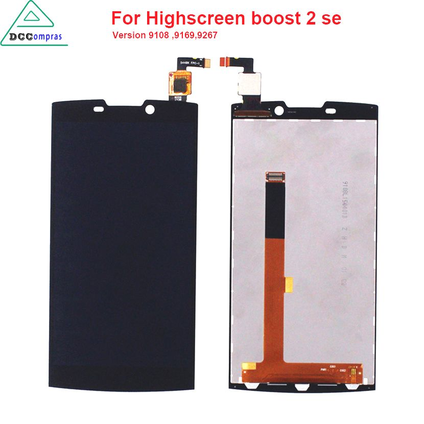 Original Quality For Highscreen boost 2 se 9169 9267 LCD Display Touch Screen For INNOS D10 Black Color Mobile Phone LCDs