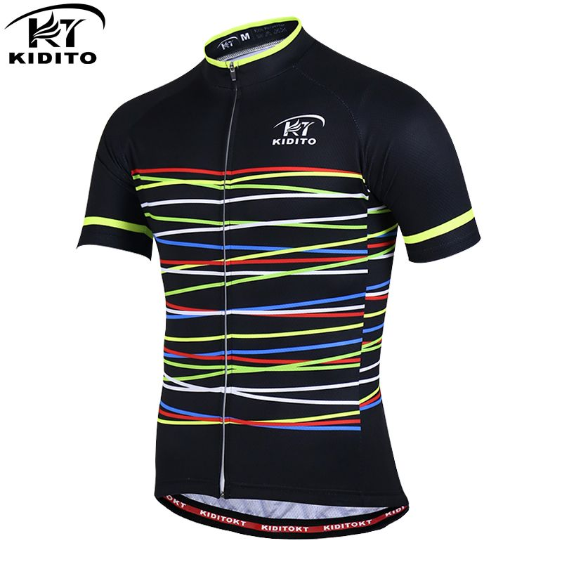 KIDITOKT Pro Quick-Dry Cycling Clothing Summer Cycling Jerseys Racing Bike Clothing Men Sportwears MTB Bicycle <font><b>Clothes</b></font>