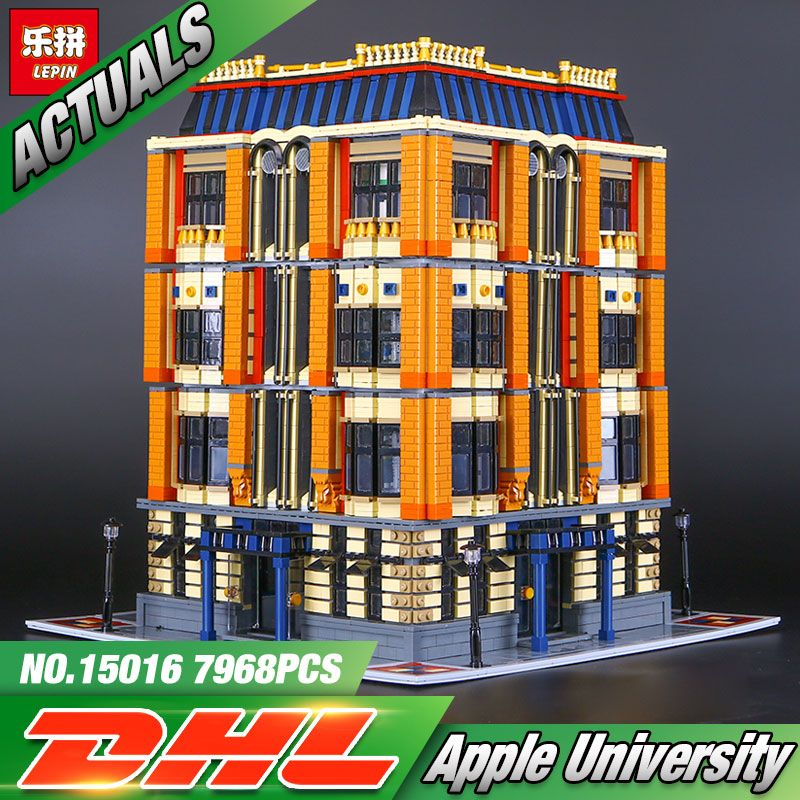 New 7968Pcs Lepin 15016 Genuine MOC Series The Apple University Set Building Blocks Bricks Educational Children Toys