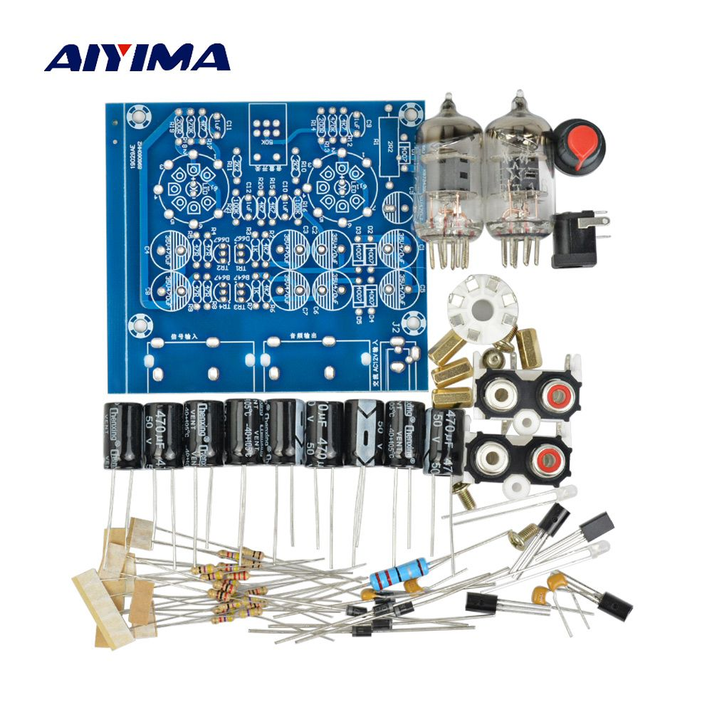 AIYIMA amplificateurs de Tube carte Audio amplificateur de pré-ampli mélangeur Audio 6J1 Kits de bricolage de tampon biliaire de préampli de Valve