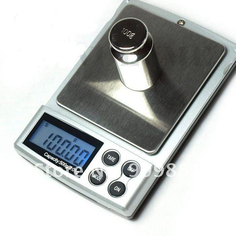 500g 0.01g Portable Balances Électroniques 500G 0.01 Numérique Bijoux Balance De Poche LCD Cuisine Alimentaire Poids Balance Avec la Boîte de détail