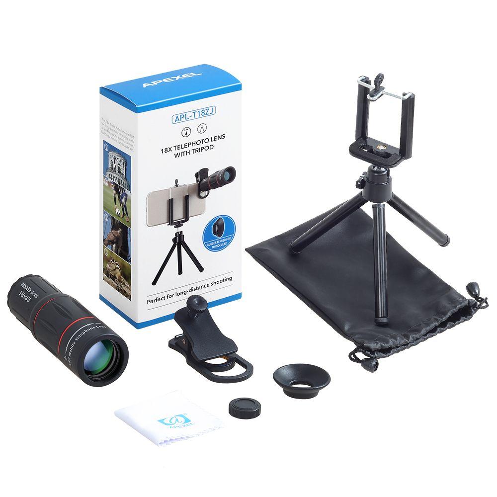 Mobile téléphone lentille kit 18X télescope macro téléphone et caméra objectif pour iphone7s xiaomi Samsung universel smartphones