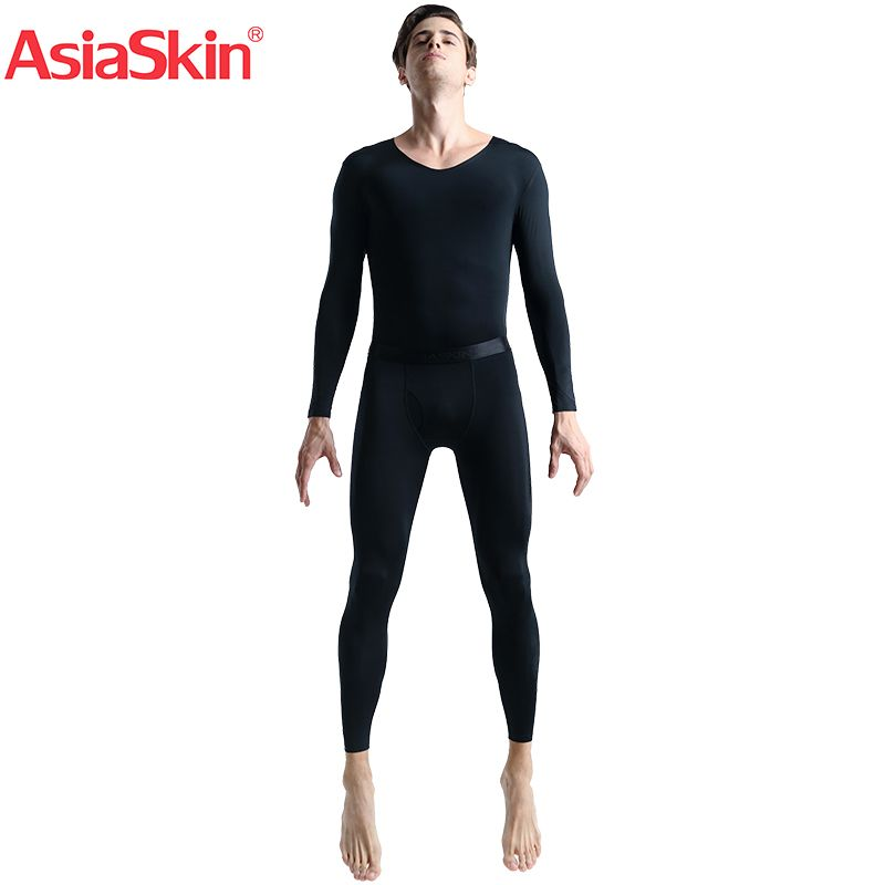 2018 Mens Solid Underpants Long Johns Set Pants Low Rise Thin Underwear knitted Seamless Underwear Sets Ropa Interior Hombre