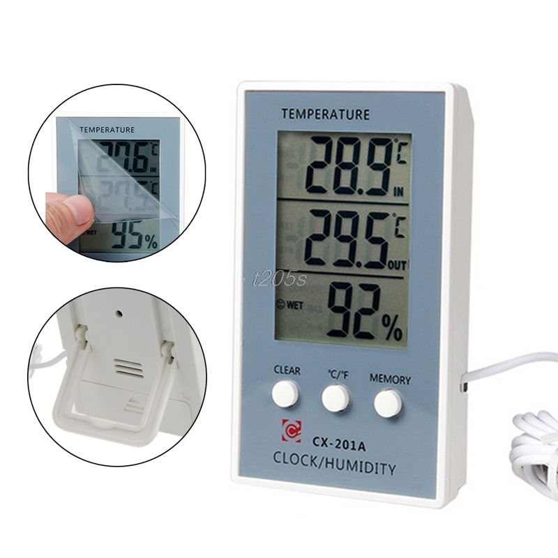 LCD Digital Thermometer Hygrometer Temperature Humidity Measurer Tester T18 Drop ship
