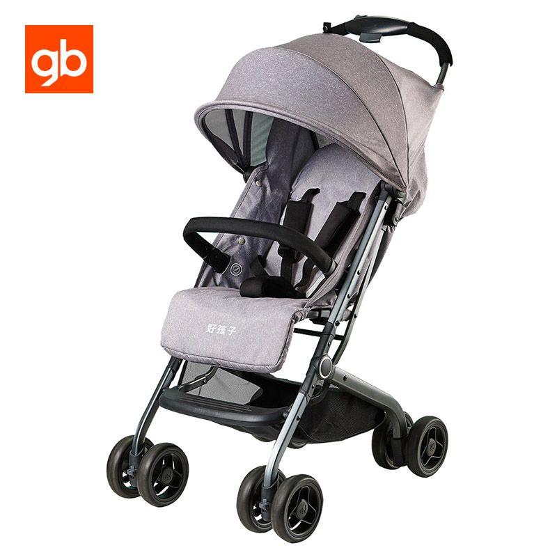 GB Qbit Luxus Kinderwagen Leichte Kompakte High-Landschaft Kinderwagen Tragbare Falten Kinderwagen Neugeborenen Sitzen Liegen Kinderwagen