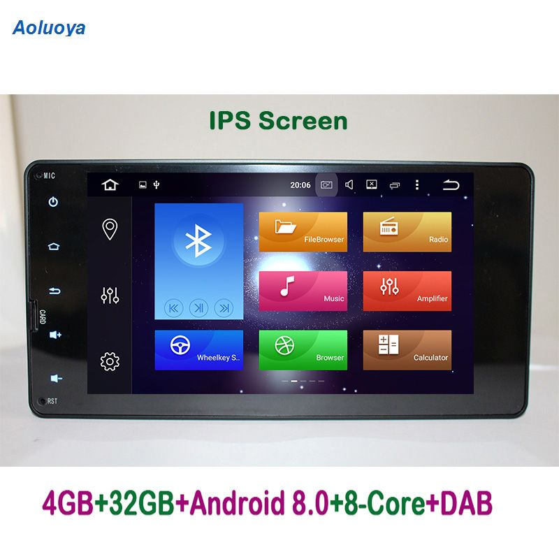 Aoluoya IPS RAM 4GB+32G Octa Core Android 8.0 CAR DVD GPS For Mitsubishi Pajero V93 V97 Outlander 2012-2015 Sport L200 2015 2016