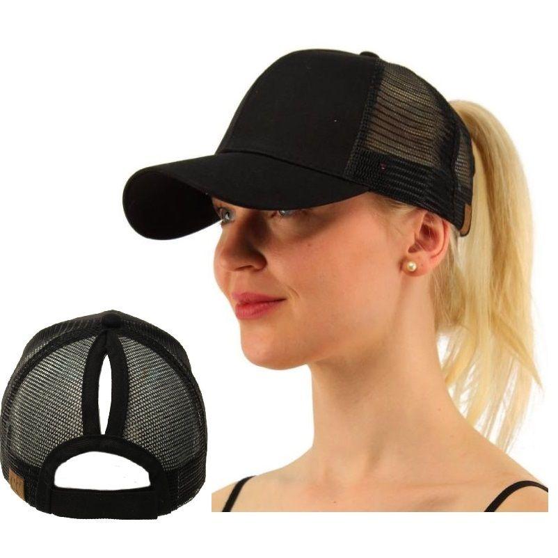 Новый дизайн оригинальный девушка Для женщин Размеры настроить 2 Стиль хвостик Топ узел Trucker Кепки сетки Бейсбол Защита от солнца Hat