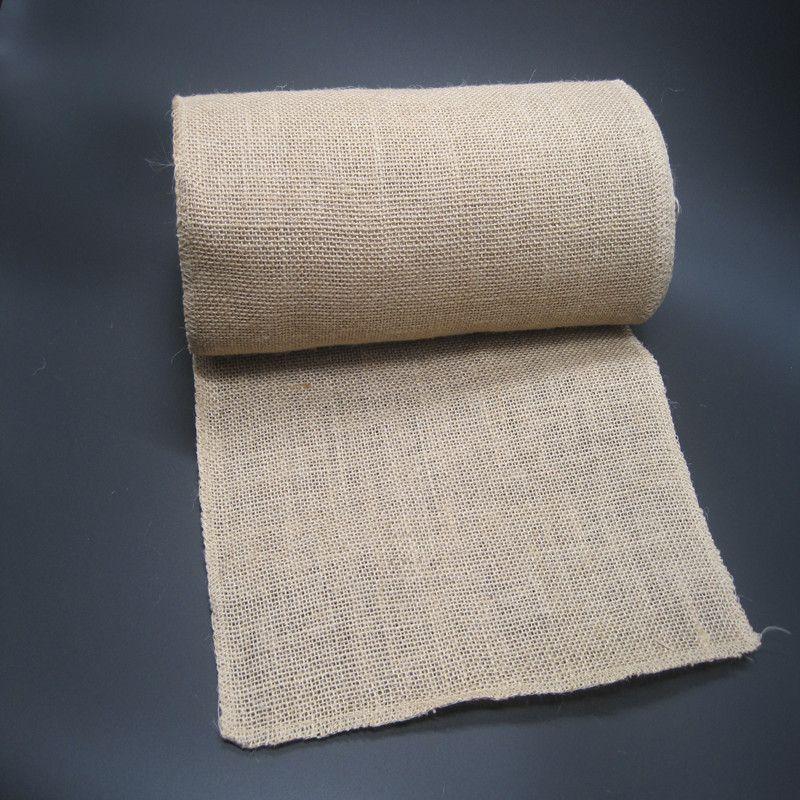 Rouleau naturel de tissu de toile de Jute de Jute de 30 CM * 10 M pour l'emballage de cadeau de décoration de partie rustique de pays
