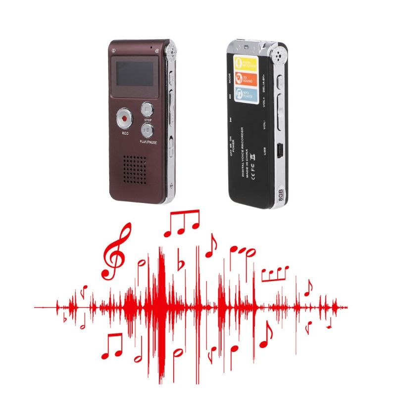 OOTDTY Digital Voice Recorder 8 GB Mini USB-Audio Stift WAV MP3 Aufnahme Diktiergerät