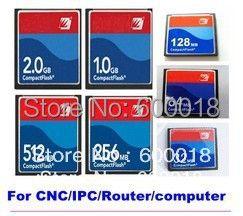 100% L'industrie mémoire Compact Flash carte CF 128 MB 256 MB 512 MB 1 GB 2 GB Carte Mémoire Prix pour CNC ROUTER IPC IMPRIMANTE 20 PCS/LOT