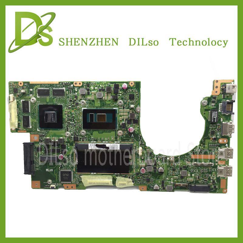 KEFU K501U Für ASUS K501UX K501UB laptop motherboard K501UX mainboard rev2.0 i5 cpu mit grafikkarte 100% getestet