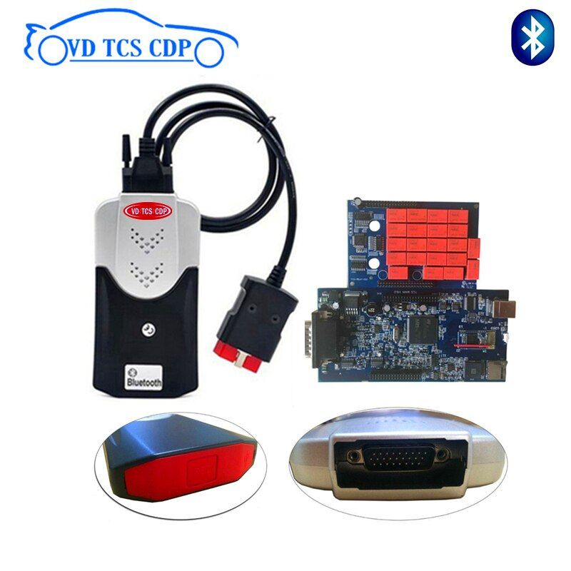 VD TCS CDP Blue pcb relay 2015 R3 with keygen/2016R0 free active can choose with Bluetooth Scanner car truck OBD diagnostic tool