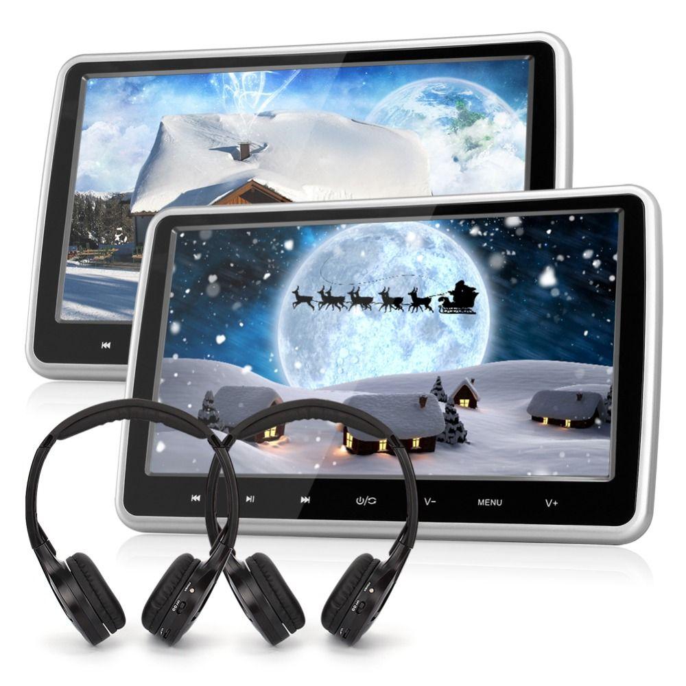 Pumpkin 2 PCS/LOT 10.1'' Black Car Headrest DVD Player HD Digital TFT Screen HDMI Port Car Monitor Support Wireless Headphone