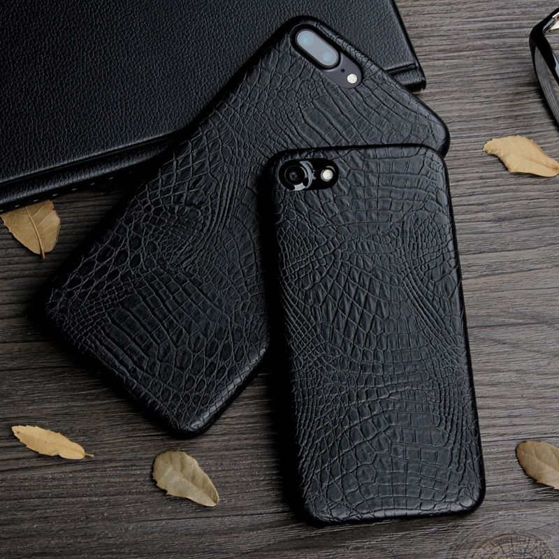 Keysion Case for iphone 8 8 Plus 7 7 Plus Luxury Crocodile Snake Print Leather soft Back Cover for iphone 8 7Plus Phone Bags