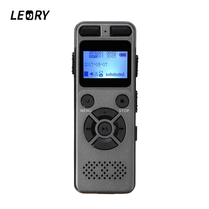 LEORY Professionelle 8 GB Digital Voice Recorder Tragbare Mini Sound Audio Diktiergerät Mit Lautsprecher USB MP3 Player Tf-karte