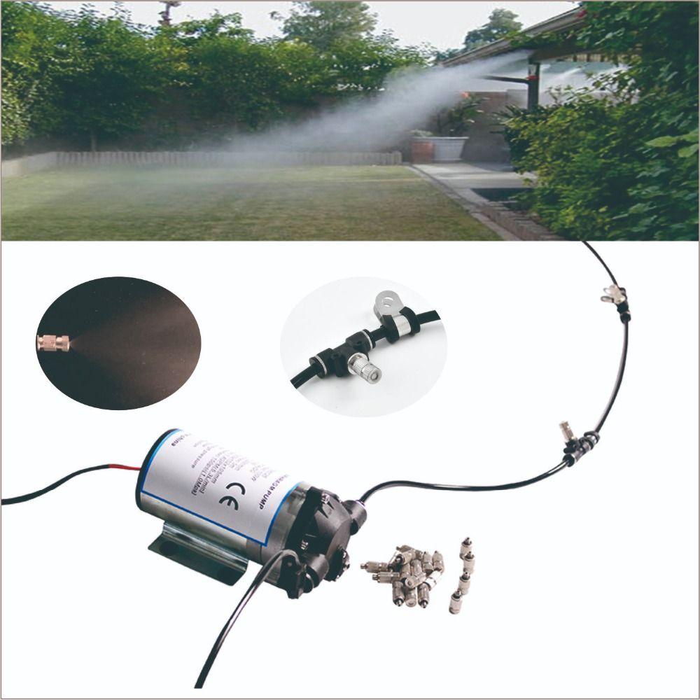 Stille pumpe außen kühlsystem mit zyklus timer. 20 stücke düse beschlagen system. Große für geflügel schuppen, gewächshaus, terrasse