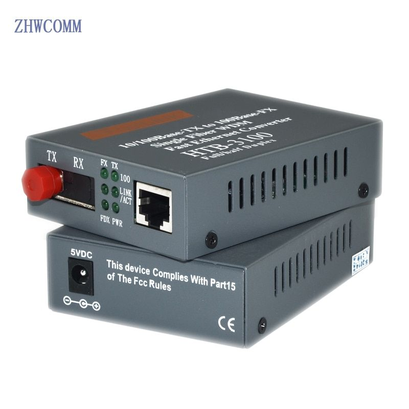 1 paire HTB-3100AB 100 M émetteur-récepteur fiber 1 FC interface + 1 RJ45 port 25 KM Rapide Ethernet Media Converter livraison gratuite