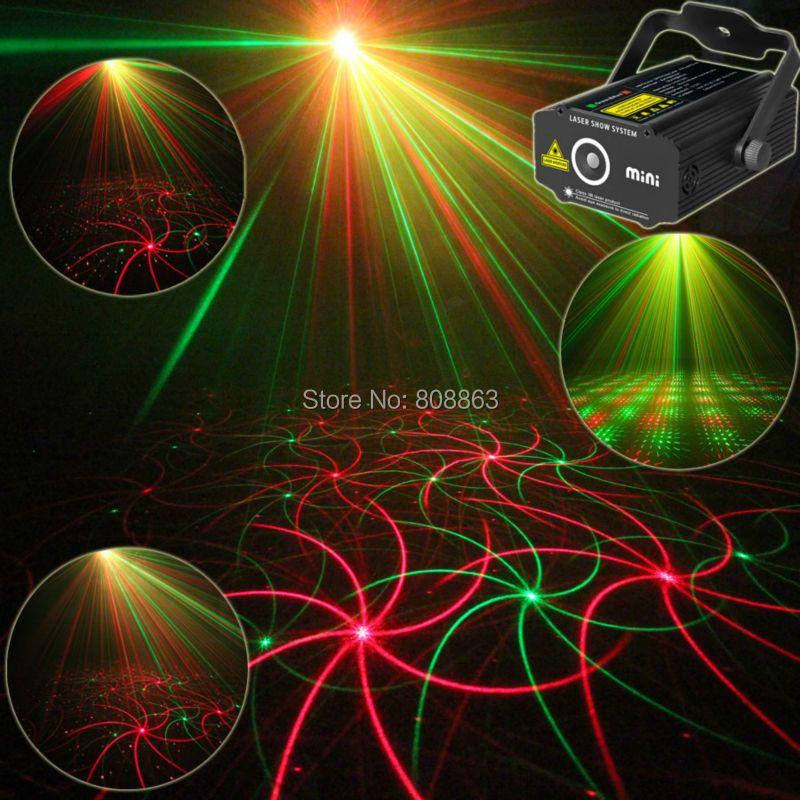 Nouveau Haute Qualité Mini 2in1 effet R & G Audio étoiles Whirlwind Laser projecteur Stade Disco DJ Club KTV famille party light Show p14