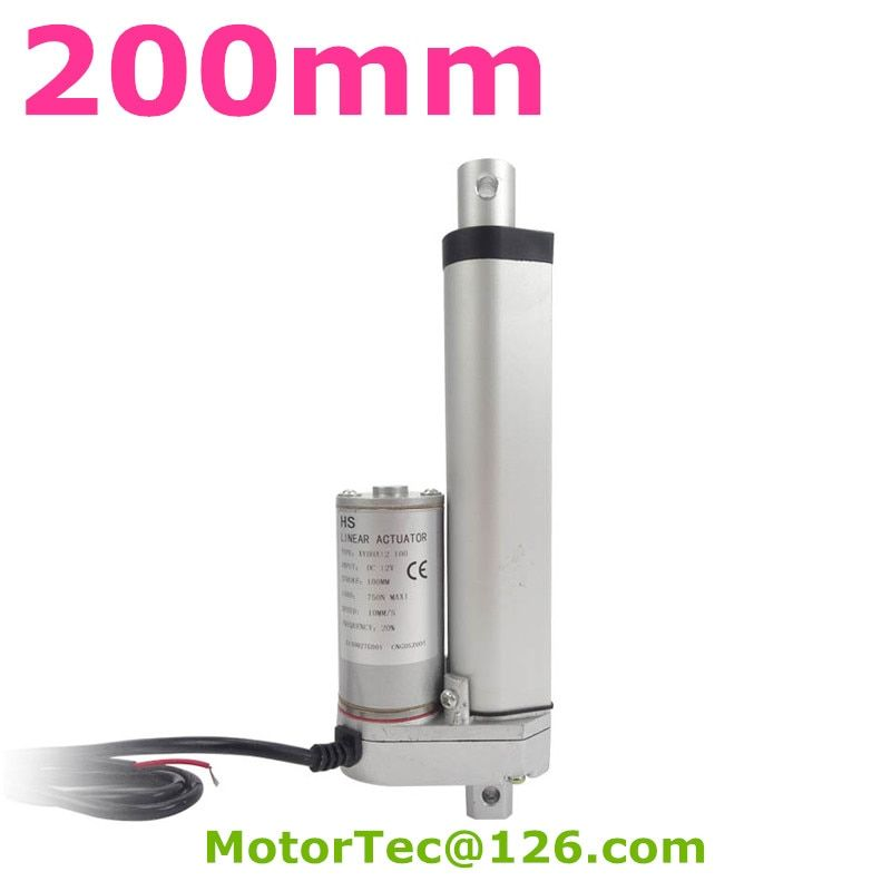 200mm stroke 1500N 150KG load capacity high speed 12V 24V DC electric linear actuator,actuator linear