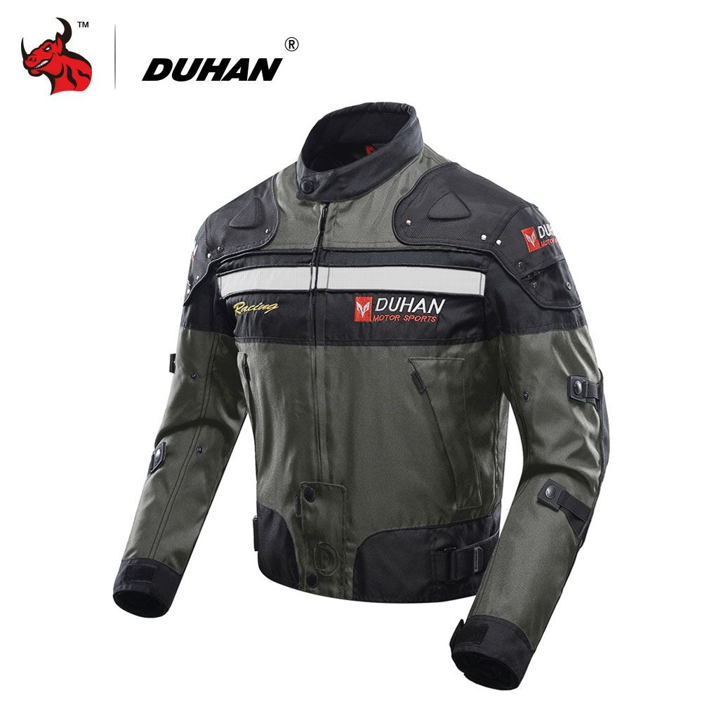 DUHAN Motorcycle Jacket Motocross Off-Road Riding Jacket Oxford Cloth Moto Jacket Protective Gear Motorbike Touring Clothing