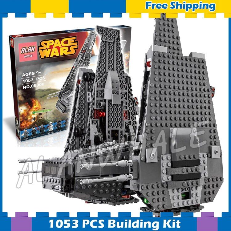 1053pcs New Space Wars Kylo Rens Command Shuttle 05006 Spaceship Model Building Blocks Stormtrooper Sets Compatible With Lego