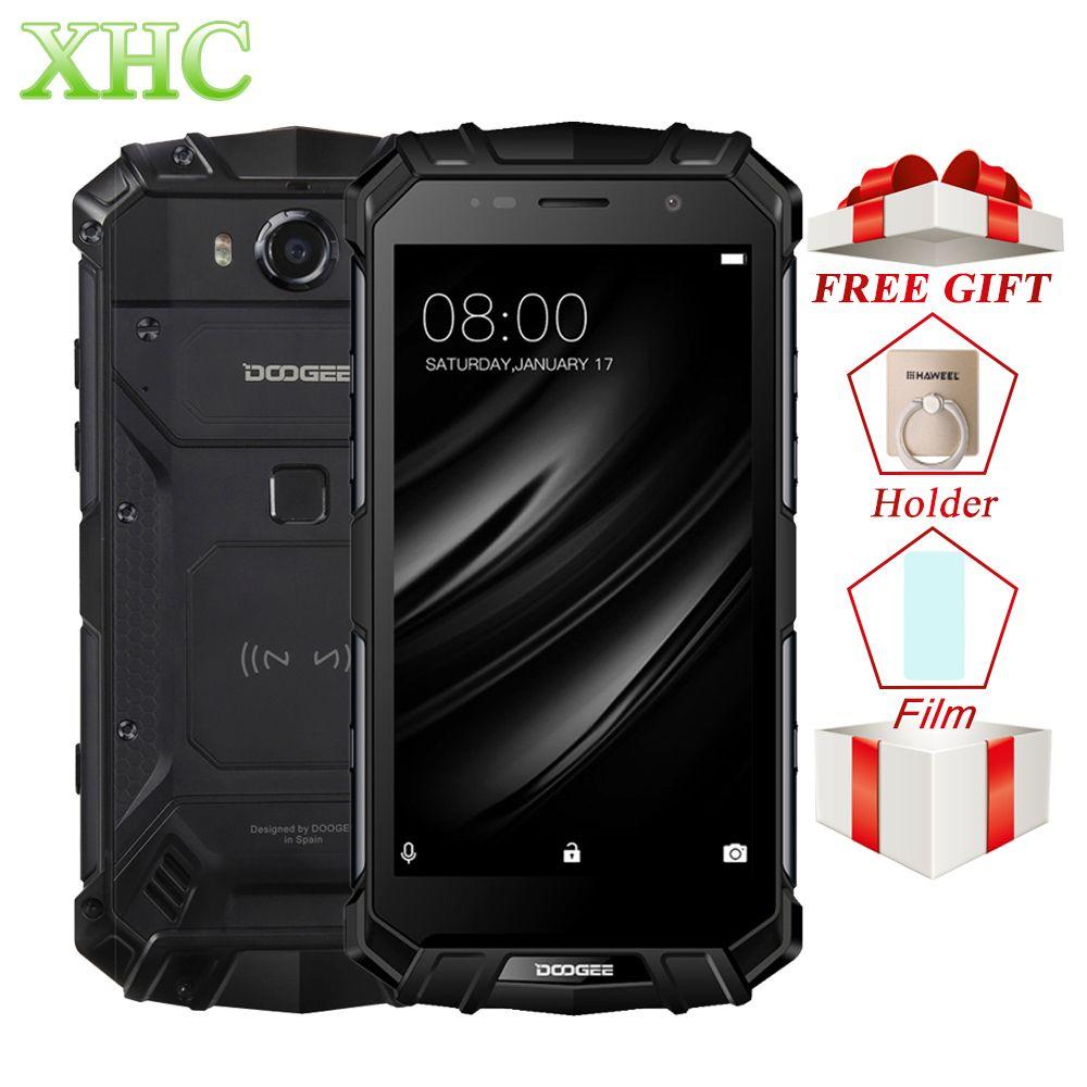 DOOGEE S60 LITE IP68 Waterpoof Mobile Phones 5.2'' 5580mAh 4GB 32GB MT6750T NFC Android 7.0 Wireless Charge Dual SIM Smartphones