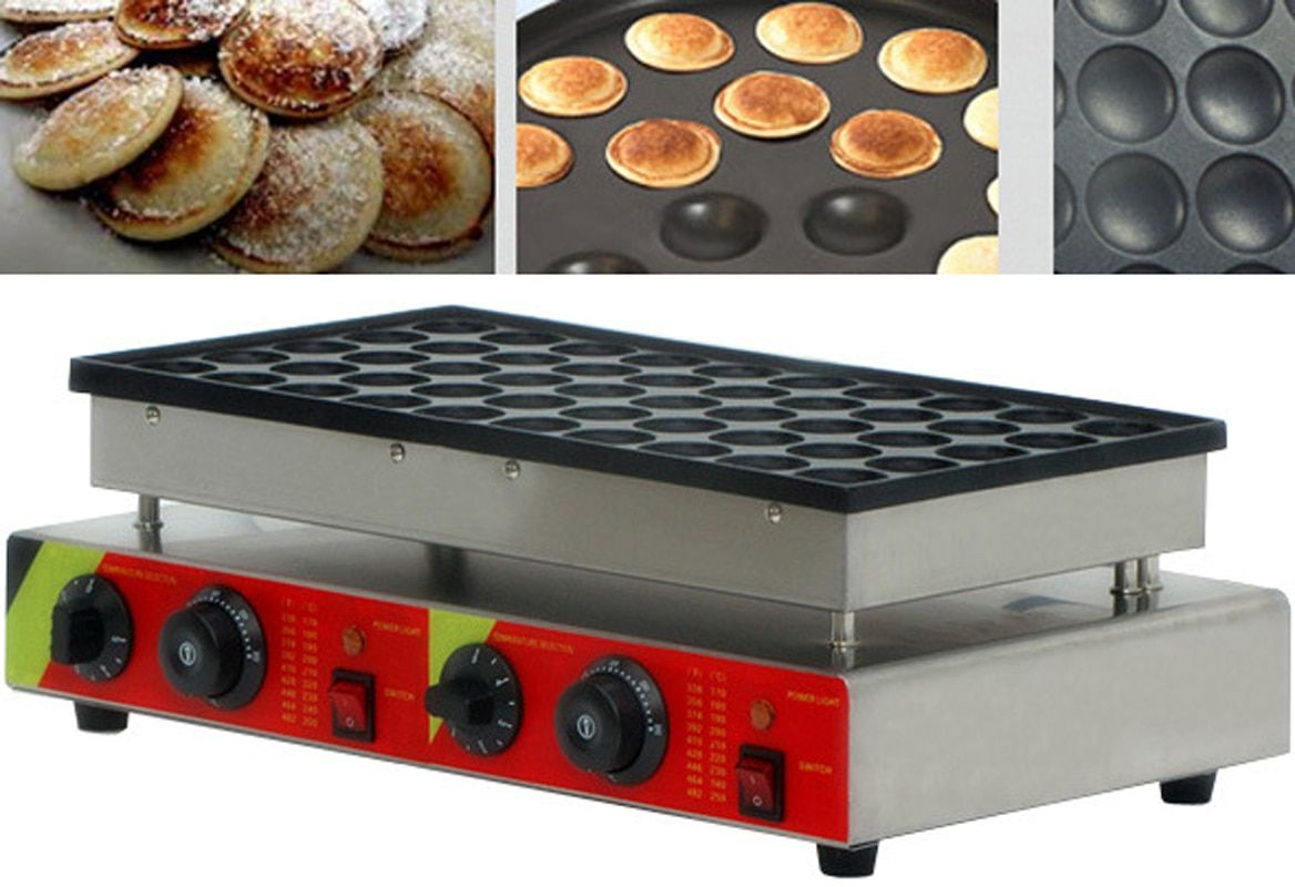 220 v/110 v 50 Löcher Waffel Maker Kommerziellen Kekse Dutch Poffertjes Grill Mini Pfannkuchen Backen Maschine