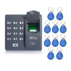 Mesin sidik jari kontrol akses dengan keypad fingerprint scanner untuk RFID akses kontrol pintu sistem dengan 10 pcs RFID keyfobs