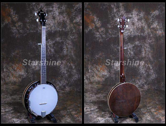 Starshine 5 Saiten Banjo Sapele Zurück & seite Traditionellen Westlichen Konzert Bass Gitarre Für Musical Saiten Instrumente