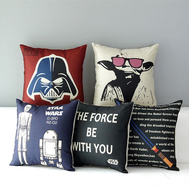 Star Wars Poster 5 modelle Meister Yoda baumwoll-leinen-leinwand dekorative kissen kissen fall für couch sofa stuhl