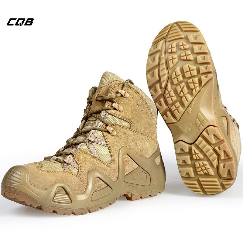 CQB Outdoor Sports Tactical <font><b>Mountain</b></font> Climbing Boot Men Wear-resisting Shoes Non-slip Large Size Trekking Shoes for Hiking