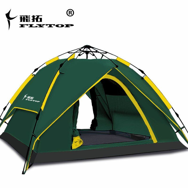 3-4 person 2 layer automatic quick open waterproof 4 season hiking travel family park beach fishing BBQ outdoor camping tent