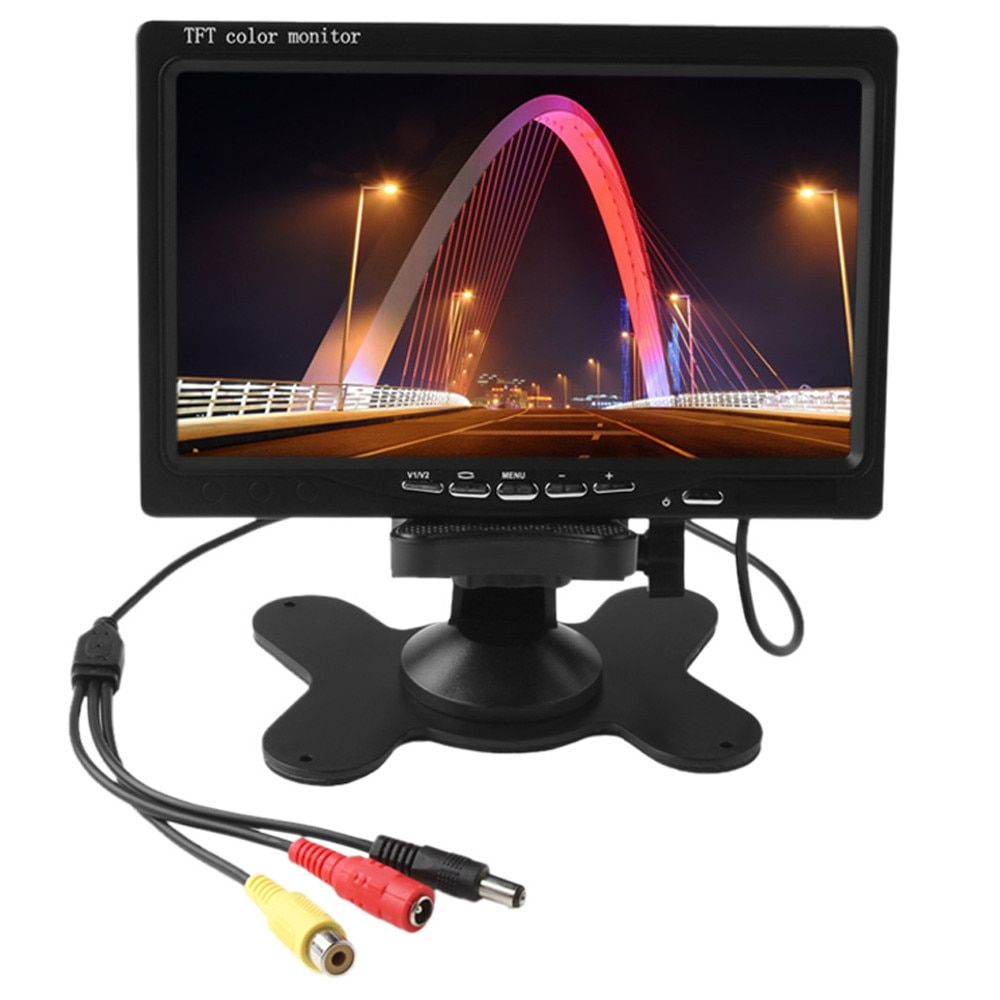 7 inch 800x480 HD TFT LCD Screen Car Rearview Display Backup Reverse System Monitor Support SD for Rear View Camera Auto Parking