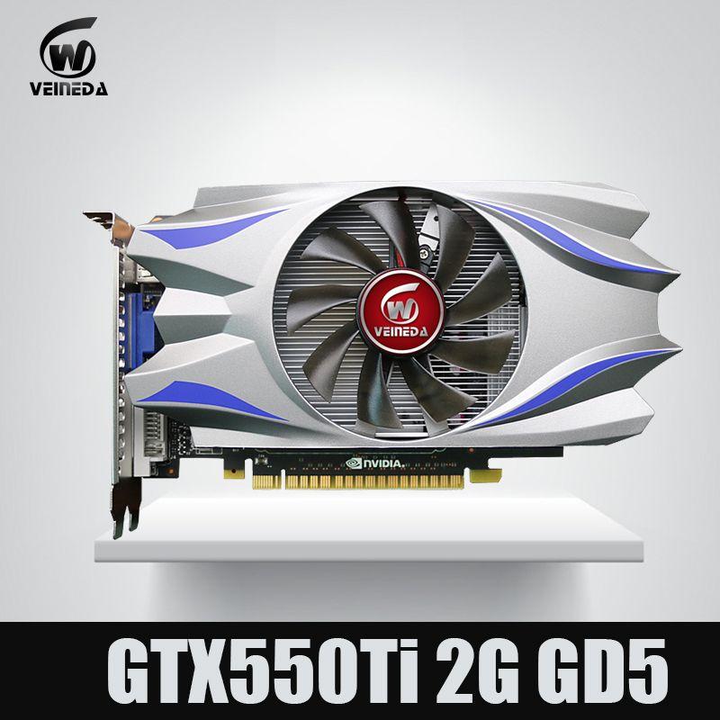 Grafikkarte Original GTX550Ti 2 GB GDDR5 128BIT 783/3400 MHz Stärker als GTS450, GT730