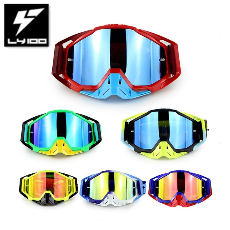 Hot Promotion Original LY-100 Brand Motocross Goggles ATV Casque Motorcycle Glasses Racing Moto Bike Sunglasses