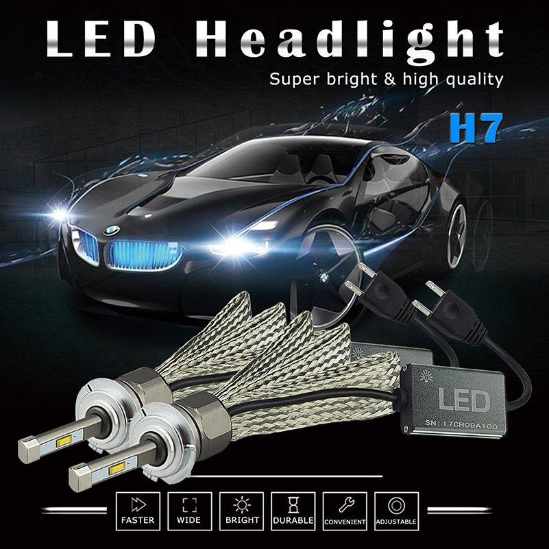 2PCS Canbus Car Headlight Lamp H4 H7 H11 H8 H9 9005 HB3 9006 HB4 9012 HIR2 LED 96W 10800LM High Low Beam Fog Light Bulb Headlamp