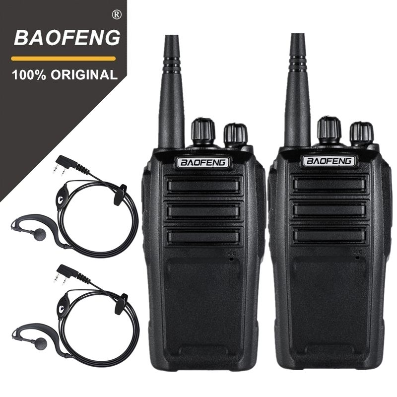 2PCS Baofeng UV-6 Security Guard Equipment Two Way Radio Encrypted Handheld Walkie Talkie Ham Radio HF Transceiver