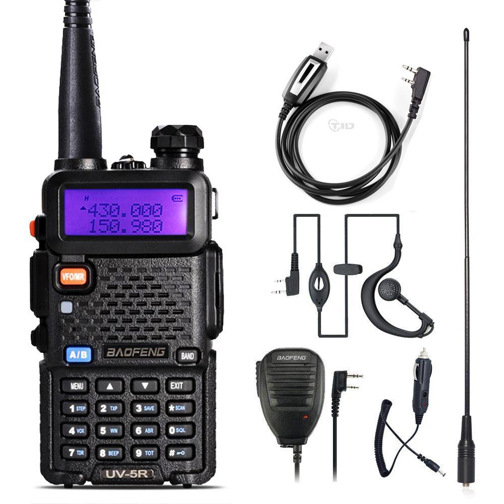 Walkie Talkie Baofeng UV-5R Radio Station 128CH VHF UHF Two-way Radio cb Portable baofeng uv 5r Radio For Hunting uv5r